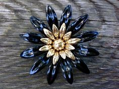 Flirty Sarah Coventry Black and Gold Tone by FancyThatBlingCo