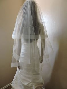 "2"" Horsehair Wedding Veil, just gorgeous! Handmade by me! Gorgeous Complements Find me online"