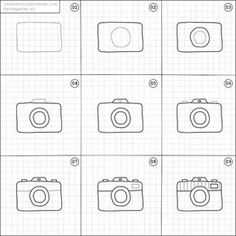 Need some simple doodle art for beginners? This post is FOR YOU! The perfect way to liven up your bullet journal is with art and little doodles so cl. Doodle Art For Beginners, Easy Doodle Art, How To Draw Doodles Easy, Bullet Journal Ideas Pages, Bullet Journal Inspiration, Camera Doodle, Bujo Doodles, Planner Doodles, Camera Drawing