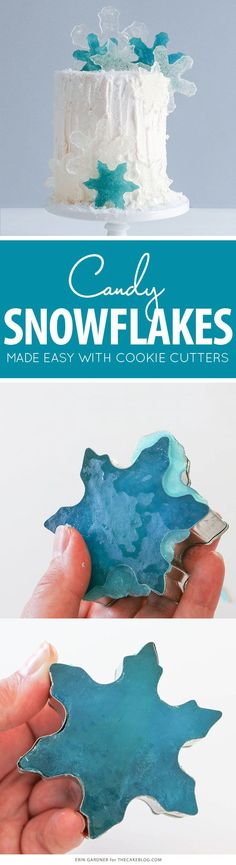 How to make candy snowflakes | by Erin Gardner for http://TheCakeBlog.com