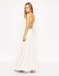 ASOS - Maxi robe à nouer au dos