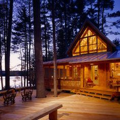 I Love The Window Paneling, This House, + The Deck That's Built Around These Trees!!!!!