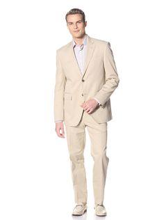 Valentino Men's Two Button Notch Collar Suit (Khaki) #Shirt #Men #SuitsCoats