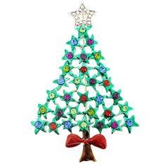Enamel Star Christmas Tree Brooch/Pendant  1001046 от pinxus