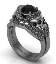 Skull Engagement Ring 14 KT with Matching Band - $1,250.99