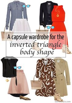 inverted triangle body shape spring capsule looks | 40plusstyle.com