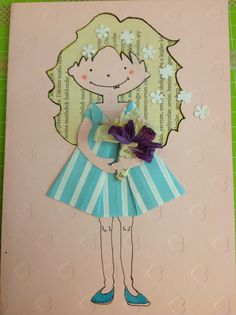 Origami dress card #origami #origamidress #handmade #cards