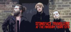 Stoneface Travellers play The Finsbury. Micah, Emile and Blaise. Photo ©John O'Sullivan