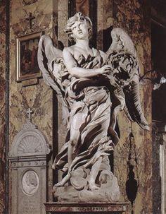 Angel with the Crown of Thorns by BERNINI, Gian Lorenzo #art