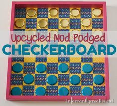 Make an Upcycled Bottlecap Game Board ~ Creative Green Living