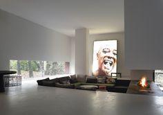 minimal + sunken living room