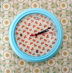 diy: clock refashion. I think this could have been done much better, but the idea is there #diy #clocks #crafts