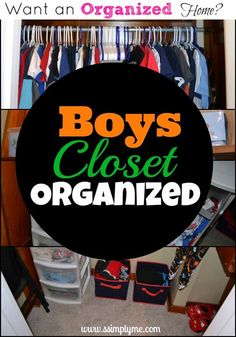 Want an Organized Home? The Boys Closet. A shared closet can be hard to organize! BUT it can be done! Find simple tips and before and after pictures for organizing a shared closet.