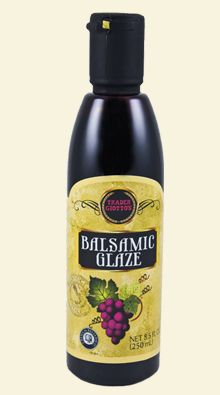 Trader Joes balsamic glaze.    AMAAAAAZING on strawberries, great for cooking, it adds a fantastic touch to sauces, etc..