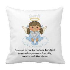 April Birthstone Angel Brunette Pillows  http://www.zazzle.com/april_birthstone_angel_brunette_pillows-189187846670028847?rf=238631258595245556