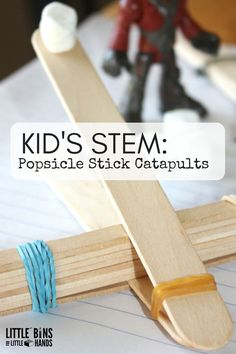 This popsicle stick catapult is a fun STEM activity for kids. Perfect for a rainy day!