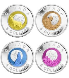 Several countries use niobium in bi-metallic bullion. These Canadian collector coins are made of silver and niobium . the vibrant colors being provided with a slug of pure anodized niobium . Easy Rider, American Coins, Native American, Phlox Flowers, Maple Leaf, Dollar Money, Dollar Coin, Canadian History, Native Canadian