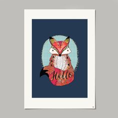 The Animal Kingdom collection is inspired by the little friends that can be found in my garden. Hello Foxy is a beautifully hand illustrated and digitally coloured print that would make a wonderful addition to any room.A3 in size and printed on Matte Heavyweight paper 167gsm.I will post your print in an envelope with a stiff board to avoid any folds or creases. The prints also come in a plastic slip.Signed and dated on the back.Designed and printed in Britain.Pleas...