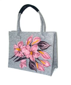 Unique. Stylish Shopper Bag.Big Felt Bag.Women Bags. Winter. Tote.Felted Bag. Handbag.Art Bag.Handmade.Gift .