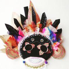 Máscara para Carnaval 2017 inspirada en las tribus del mundo, para hacer con niños.