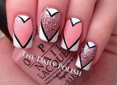 μανικιουρ για την ημερα του Αγιου Βαλεντινου 4 - valentine's manicure