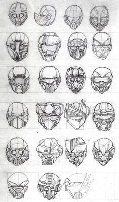 Helmet Concept Sketches 2015 by Gigaclutch on DeviantArt