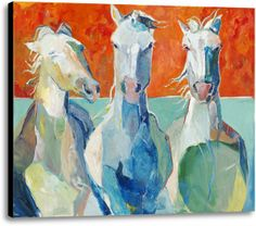 Picture of Hangin' Out. #wallart #homedecor #canvas #horses