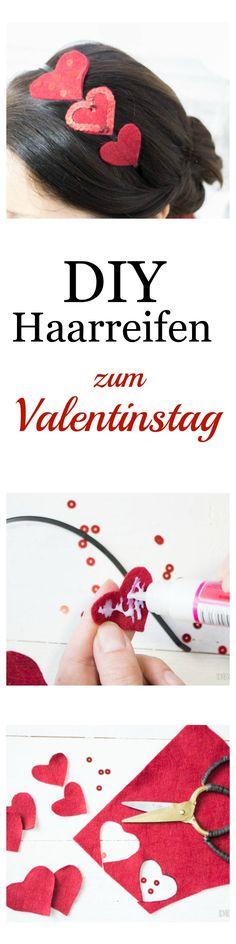 Love is the (h)air!  Ein einfaches DIY mit Step by Step Anleitung für einen zauberhaften Haarreifen zum Valentinstag   by Decorize
