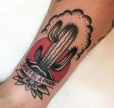 Shared by Abigail Trost. Dad Tattoos, E Tattoo, Tatuagem Old Scholl, Western Tattoos, Cactus Tattoo, American Tattoos, Trendy Tattoos, Traditional Tattoo, Tattoo Inspiration