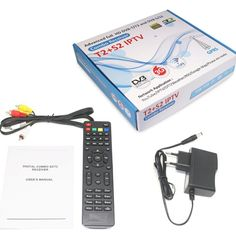 Cheapest T2+S2 combo IPTV set top box with IKS, CCCAM PowerVu TV3 Biss IKS RS232 3GWIFI