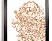 . Doodle Designs, Paisley, Doodles, Tapestry, Unique, Handmade, Etsy, Home Decor, Hanging Tapestry