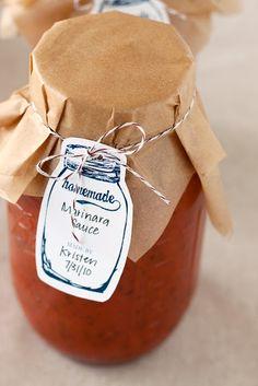 Canning jar labeling