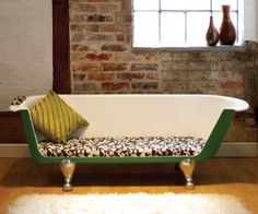 Recycle that old claw foot bathtub into something more than a bird bath or planter for the community garden.  Let Max McMurdo and his team turn it into your new sofa for use indoors or out!