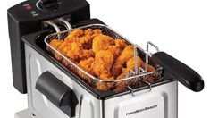 Indulge in all the fried food goodness. Deep Fryer, Hamilton Beach, New Technology, Walmart, Cooking, Food, Tech News, Cartoon Characters, Beverage