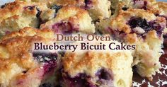 Pamper yourself with a delicious dutch oven blueberry biscuit cake. It is easy to make and gives a serving of four.