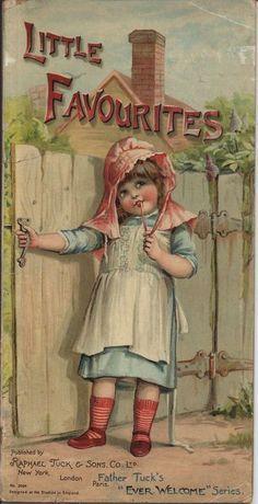 """Vintage cover illustration by Frances Brundage from """"Little Favourites"""", ca. Vintage Book Covers, Vintage Children's Books, Vintage Ephemera, Look Vintage, Vintage Prints, Vintage Kids, Vintage Artwork, Vintage Pictures, Vintage Images"""