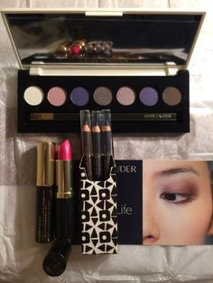 Estee Lauder Christmas Gift SetPure Color7color EyeShadow 3 pure color eyeliners Extreme Black Mascara Rubellite SHIMMER Lipstick and a Big Cosmetic Bag -- You can get more details by clicking on the image.Note:It is affiliate link to Amazon.