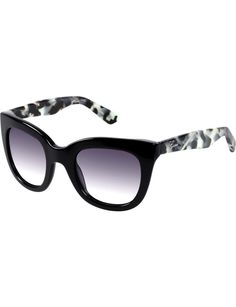 Guess Womens Black Oversized Sun W.Leopard Temples - $99 from David Jones