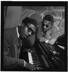 William Gottlieb - Portrait of Thelonious Monk and Howard McGhee, Minton's Playhouse, New York, N.Y., ca. Sept. 1947 by The Library of Congress