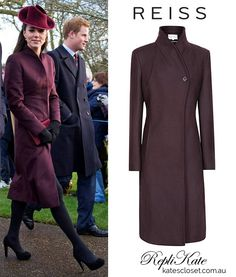 Reiss has a stunning burgundy coat reminiscent of Kate's coat