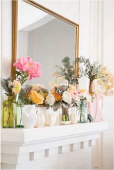 Some day, I will have enough time and money to keep fresh flowers on my mantel at all times. Some day, I will have a mantel.