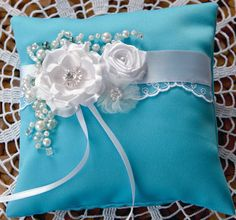 Wedding Ring Pillow Bubbles by YourFairyWed on Etsy, $50.00