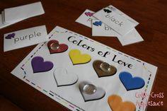 Criss-Cross Applesauce: Colors of Love Sight Word Game (Freebie!)