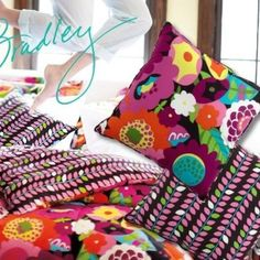 Have to admit I am not a huge Vera Bradley fan but these pillows are rely cute !!