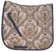 Beautiful Caesar Chenille/Jacquard Baroque Dressage Saddle Pad $39.95. Many different saddle pads to choose from. Visit us at  www.equestrianhomeaccessories.com.