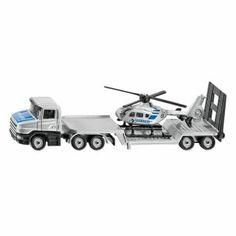 Siku 1610 – Mô hình xe tải sàn thấp và máy bay trực thăng