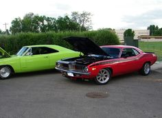 1970 Dodge Charger RT and 1970 Plymouth AAR 'Cuda