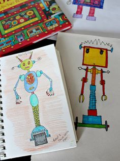 Robot Drawing Book - Alex's review and recommendation.