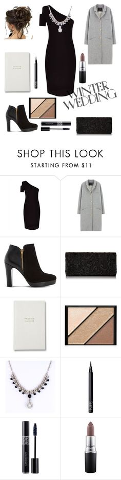 """""""Winter wedding"""" by r-bye ❤ liked on Polyvore featuring Jaeger, Des Petits Hauts, Dune, Elizabeth Arden, NARS Cosmetics, Christian Dior and MAC Cosmetics"""
