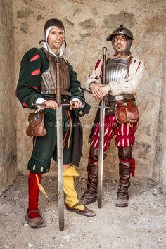 Armored landsknechts. Photo by Camillo Balossini…